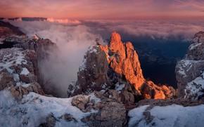 Picture winter, clouds, mountains, Crimea, AI-Petri, Yalta, Gaspra