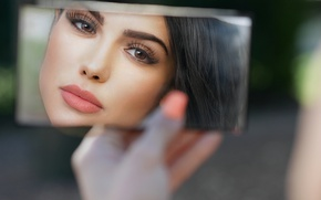 Picture girl, face, reflection, beauty