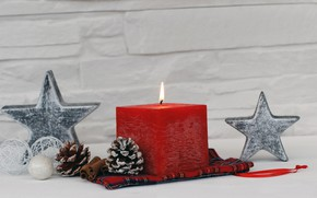 Picture holiday, star, new year, candles, bumps, decor