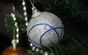 Picture tree, ball, New year