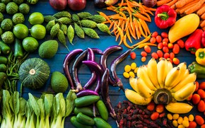 Wallpaper range, fruit, cuts, Vegetables