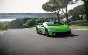 Picture Lamborghini, speed, Huracan, Huracan Performante, Lamborghini Huracan Performance, grren