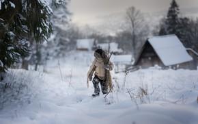 Picture winter, snow, boy