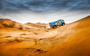Picture The sky, Sand, Nature, Sport, Speed, Truck, Race, Master, Beauty, Russia, Kamaz, Rally, Rally, KAMAZ, …