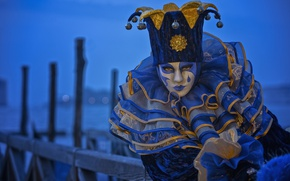 Picture Marina, the evening, costume, Venice, carnival