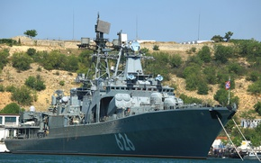 Picture ship, large, Navy, anti-submarine, project 1155, Vice Admiral Kulikov