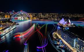 Picture lights, Sydney, cityscape, sydney, australia, opera house, exhibition, vivid