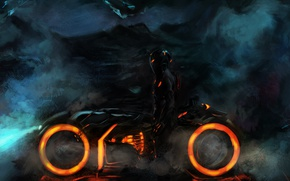 Wallpaper fiction, movie, the film, warrior, art, action, character, the cycle, Tron: Legacy, Tron: Legacy, Rinzler, ...