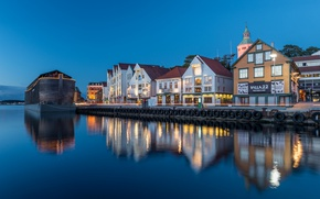 Picture lights, the evening, Norway, Norway, Rogaland, Stavanger, Valbergstårnet