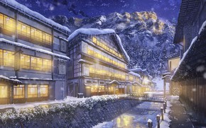 Wallpaper home, by NIK, winter, mountains, snow, ate