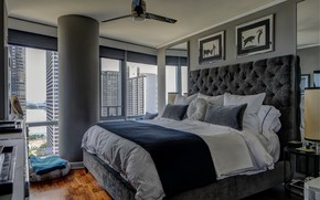 Picture design, bed, pictures, bedroom, decor
