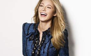 Picture girl, emotions, photo, mood, laughter, Blake Lively