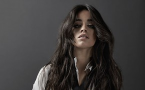 Picture background, portrait, brunette, singer, Camila Hair