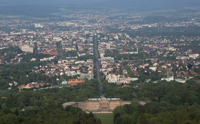 Picture Kassel, Bergpark, The view of Hercules