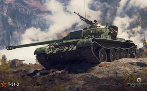 Wallpaper WoT, World of tanks, World of Tanks, Wargaming, T-34-3