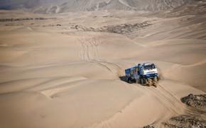 Picture Sand, Truck, Master, Russia, Kamaz, Rally, Dakar, Dakar, Rally, KAMAZ, The roads, RedBull, Master, Dune, …