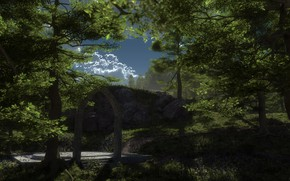 Picture forest, arch, The Arch