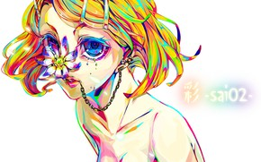 Picture flower, look, style, anime, art, Vocaloid, Vocaloid, characters