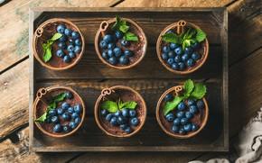 Picture berries, food, Breakfast, blueberries, mint, dessert, tiramisu, Natasha Breen