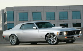 Picture Ford Mustang, Muscle car, Custom, Silver
