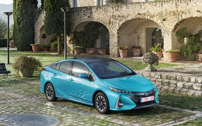 Picture Blue, Toyota, Car, Hybrid, Prius, Metallic, Plug-in, 2016-17