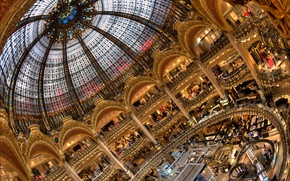 Picture France, Paris, shop, Department store, Galeries Lafayette