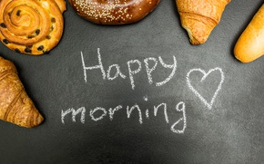 Picture donuts, cakes, good morning, buns, croissants