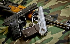 Wallpaper Gun, gun, pistol, Machine, weapon, engraving, Kalashnikov, Kalash, engraving, AKMS, Makarov, PM, Makarov, PM