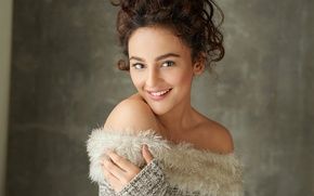 Picture girl, hot, sexy, eyes, smile, beautiful, figure, model, pretty, beauty, lips, face, hair, brunette, pose, …