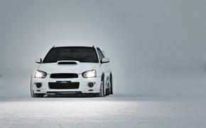 Picture Subaru, Impreza, WRX, Winter, STI, White