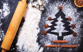 Picture cookies, Christmas, Christmas, cakes, flour, cooking, ingredient