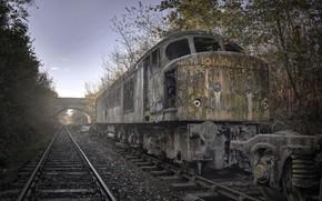 Picture background, railroad, locomotive