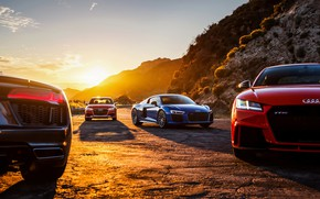 Wallpaper Audi R8, Audi TT RS, Audi RS 3