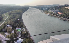 Picture city, river, nature, view, ship, stream, slovakia, danube, bratislava