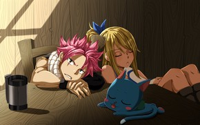Picture game, nothing, anime, cat, Lucy, dragon, asian, friends, manga, Happy, japanese, Fairy Tail, Natsu, oriental, …