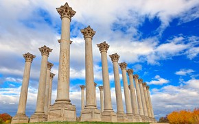 Picture columns, Washington, USA, architecture, National Capitol Columns