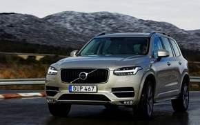 Picture road, the sky, mountains, Volvo, XC90, T8 Twin Engine