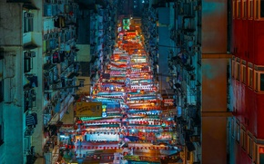 Picture street, home, Hong Kong, night market, Yau MA TEI