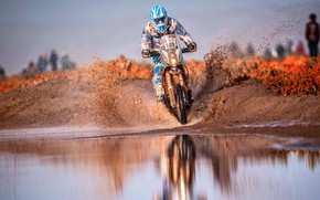 Picture Water, Sport, Speed, Puddle, Motorcycle, Racer, Moto, Squirt, Rally, Dakar, Dakar, Rally