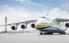 Picture The sky, Clouds, The plane, Airport, Strip, Wings, Engines, Dream, Ukraine, Mriya, The an-225, Airlines, …