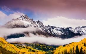 Picture Sky, Autumn, Mountains, Fog