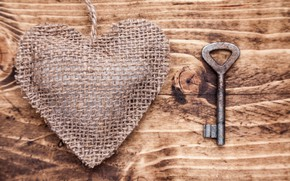 Picture love, tree, romance, heart, key, love, heart, wood, key, romantic