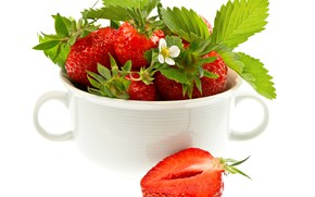 Picture berries, strawberry, Cup