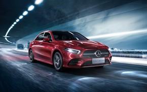 Wallpaper Mercedes-Benz, Sedan, A-Class, 2019, A200, L Sport