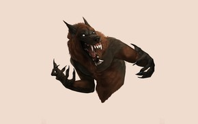 Picture face, mouth, fangs, werewolf