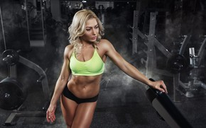 Picture blonde, fitness, gym