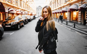 Picture girl, road, Model, long hair, cars, photo, blue eyes, street, lips, face, blonde, smiling, portrait, …