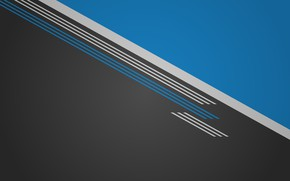 Picture Minimalism, Strip, Blue, Black, White