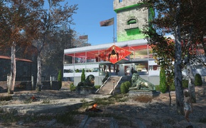 Picture house, buildings, Fallout 4