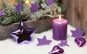 Picture background, holiday, star, Christmas, candle, spruce, New year, decoration